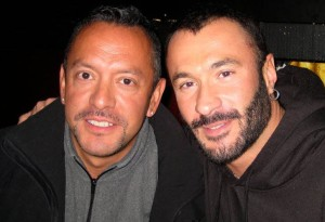 Jerry Enriquez, left, with his husband Wilfred Knight